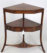 A George III mahogany corner washstand