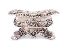 Tiffany, an American silver rounded rectangular salt cellar by Tiffany & Co.