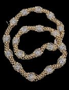 A diamond panel necklace/ bracelets