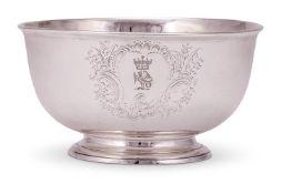 A mid 18th century Irish silver bowl