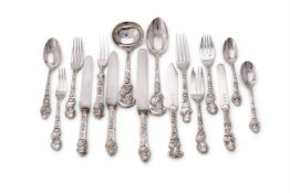 A rare silver 'Renaissance Painters' pattern table service by Walker & Hall