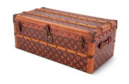 Louis Vuitton, Malle Fleurs, a Monogram canvas miniature trunk