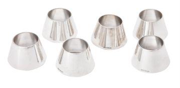 Six silver conical vessels by William & Son (William Rolls Asprey)