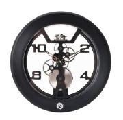 Matthew Norman, Wind, ref. 50.3648/101, a black satin aluminium clock