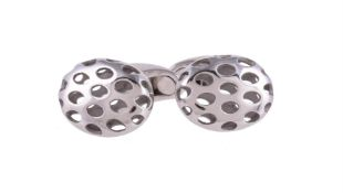 A pair of white gold cufflinks by William & Son