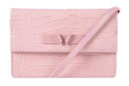Y William & Son, Mini Bruton, a Petal alligator clutch bag