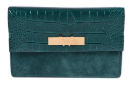 Y William & Son, Bruton, an Emerald Green clutch
