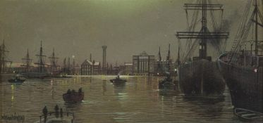 WILFRED JENKINS (BRITISH 1857-1936)THE QUEEN'S DOCK; THE THAMES