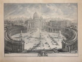 GIOVANNI BATTISTA PIRANESI (ITALIAN 1720-1778), VIEW OF ST PETER'S AND THE PIAZZA