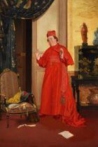 GEORGES CROEGAERT (BELIGIAN 1848-1923), INTERIOR WITH CARDINAL