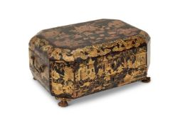 Y A CHINESE EXPORT LACQUER WORK AND WRITING BOX