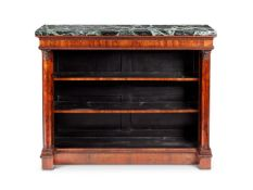 A PAIR OF ROSEWOOD OPEN BOOKCASES
