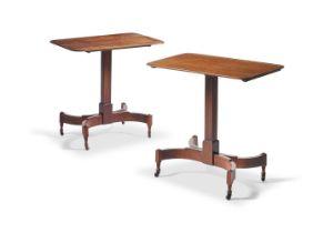 A PAIR MAHOGANY BED TABLES, 19TH CENTURY