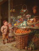 ATTRIBUTED TO HENRY CHARLES BRYANT (BRITISH 1835-1915), THE MARKET STALL