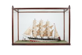 A SAILOR'S MODEL OF A FOUR-MASTED BARQUENEW YORK