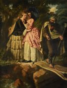 EDMOND LERCLERCQ (FRENCH 1817-1853), LEADING THE WAY