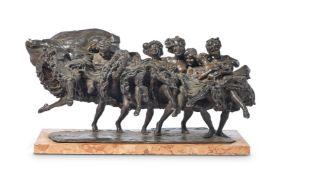 GIUSEPPE RENDA, ITALIAN (1859-1939), CAN-CAN DANCERS