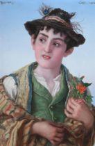 ADRIANO BONIFAZI (ITALIAN 1858-1914) THE LITTLE SHEPHERD