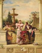 A*** FERRANT (19TH CENTURY), A ROMANTIC SCENE