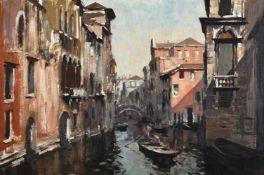 λ EDWARD SEAGO (BRITISH 1910-1974), CANAL SCENE