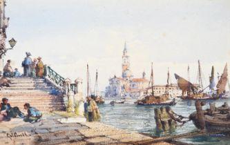 CIRCLE OF GABRIEL CARELLI (ITALIAN 1820-1900), A VIEW OF VENICE