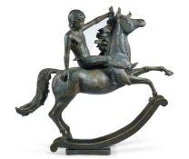 λ JAMES OSBORNE (1940-1992), BOY ON A MAGIC ROCKING HORSE