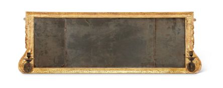 A GEORGE I GILTWOOD 'TRYPICH' OVERMANTEL MIRROR