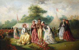 JANE MARIA BOWKETT (BRITISH 1837-1891), A GARDEN PARTY
