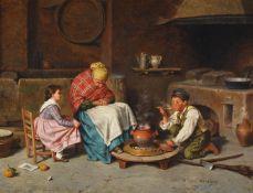 FREDERICO MAZZOTTA (ITALIAN 19TH CENTURY), STEALING A TASTE