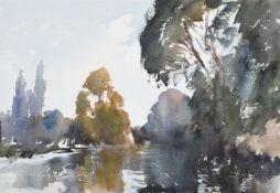 λ EDWARD SEAGO (BRITISH 1910-1974), AUTUMN ON THE UPPER THAMES