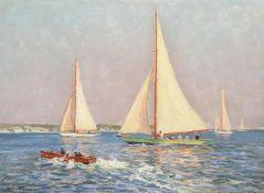 CHARLES DAVID JONES BRYANT (AUSTRALIAN 1883-1937), SAILING OFF THE SOUTH COAST