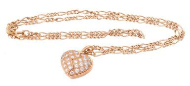 A diamond set heart pendant by Mouawad