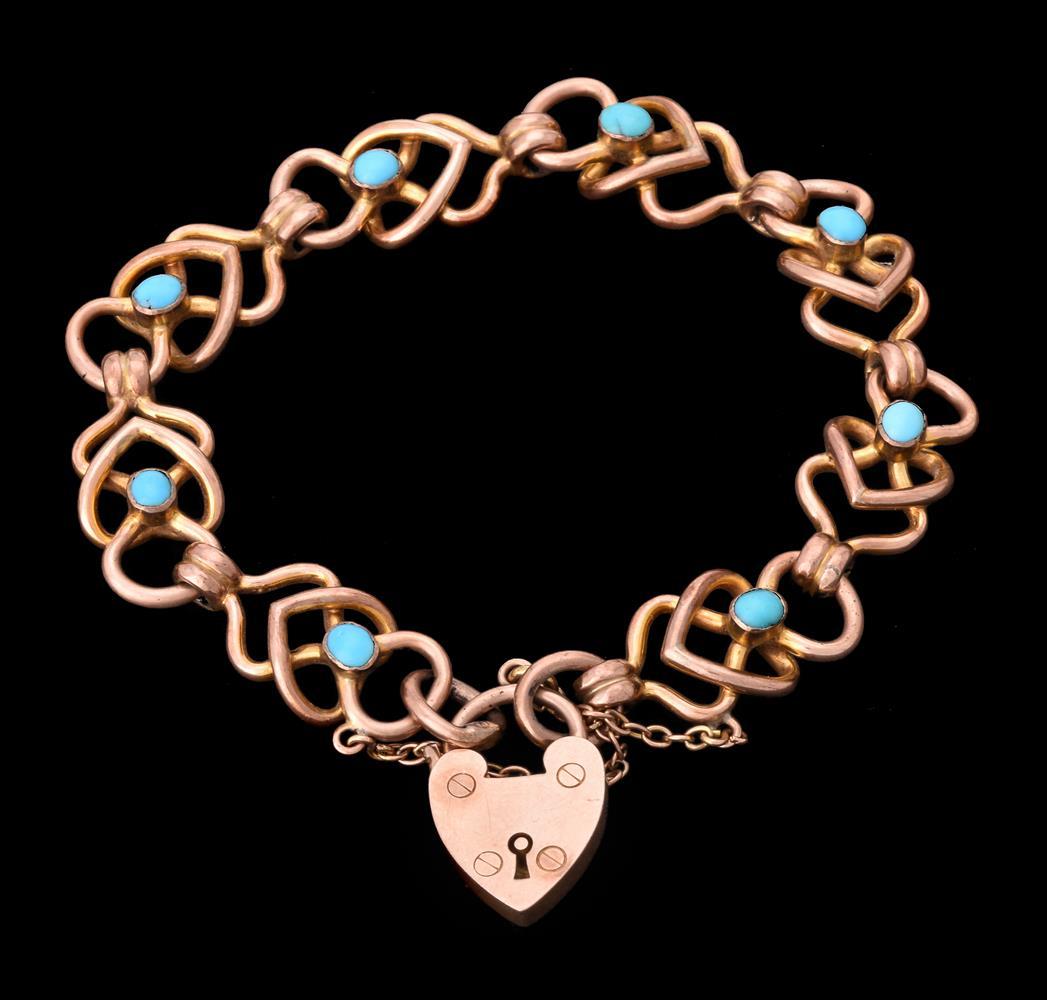 An Edwardian 9 carat gold fancy link bracelet