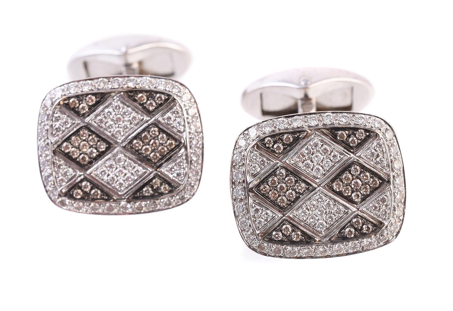 A pair of diamond cufflinks by Mouawad