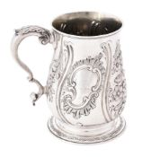 A Victorian silver baluster mug by Samuel Hayne & Dudley Cater