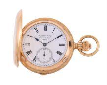 Jack Watch Factory, Chaux-de-fonds, 18 carat gold full hunter quarter repeater pocket watch