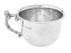 An Arts & Crafts silver mug by Albert Edward Jones