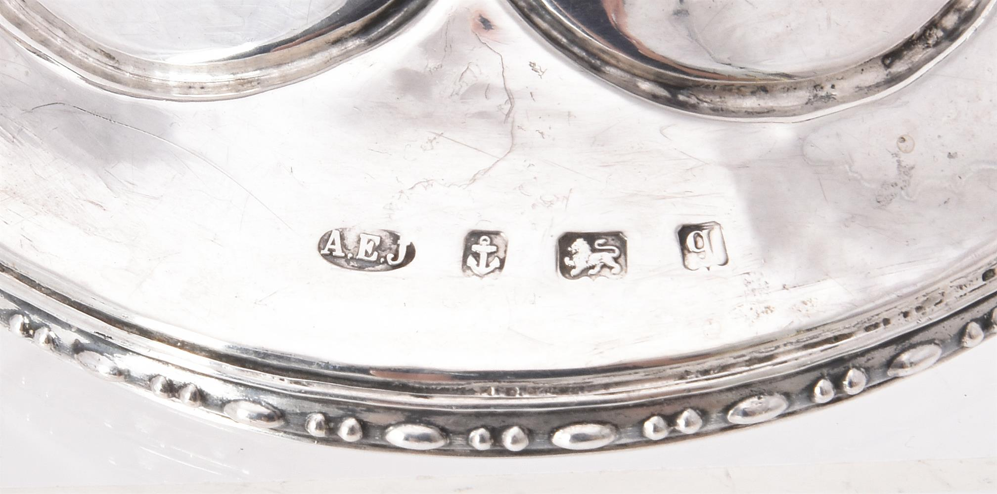 A pair of Arts & Crafts silver candlesticks by Albert Edward Jones - Image 2 of 2