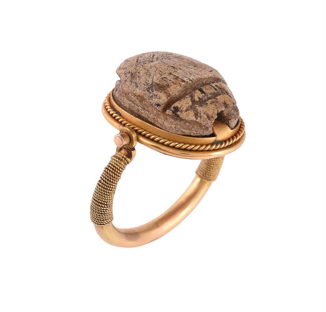 A scarab dress ring