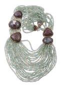 A quartz necklace by Eileen Coyne