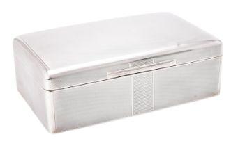 A silver mounted cigar box by Elkington & Co.
