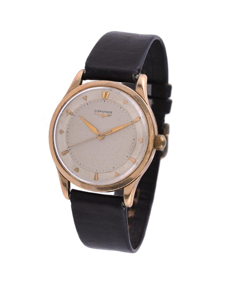 Longines, Ref. 6577, 9 carat gold wrist watch