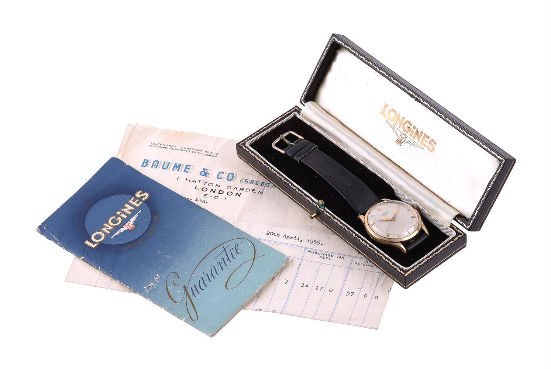 Longines, Ref. 6577, 9 carat gold wrist watch - Image 2 of 2