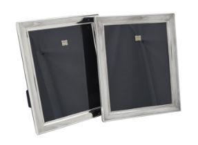 A pair of Scottish silver mounted rectangular photo frames