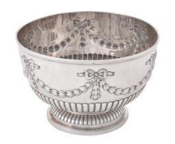 A late Victorian silver pedestal rose bowl