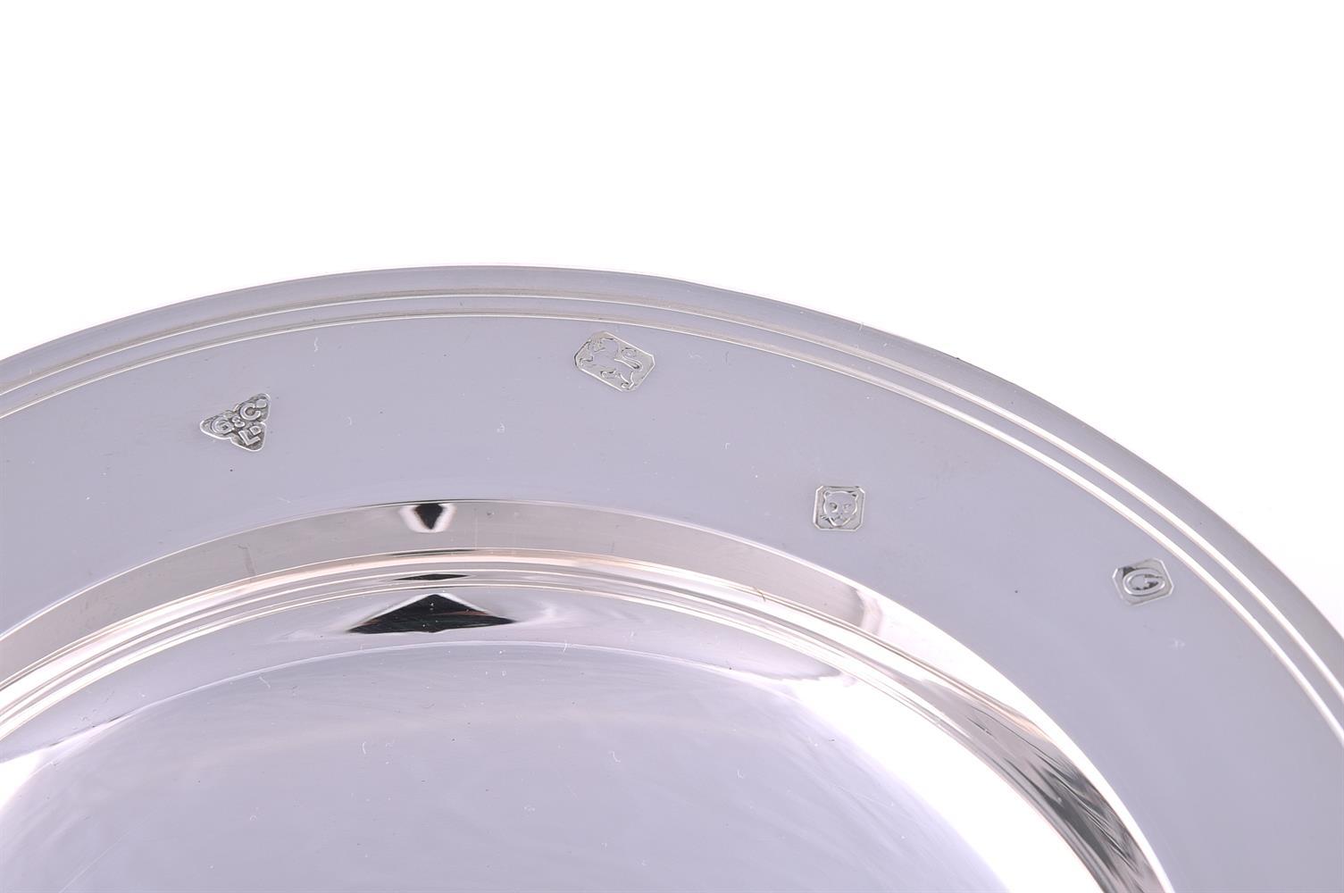 A silver armada dish by Garrard & Co. - Image 2 of 3