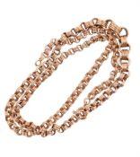 An Egyptian graduated belcher link chain