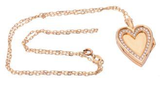 A diamond heart locket