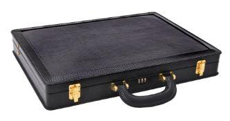 Y Lanvin, a black lizard skin briefcase