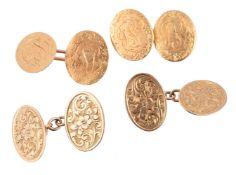 A pair of 18 carat gold cufflinks